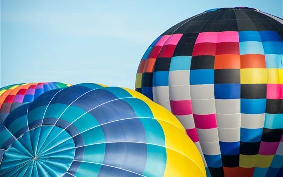 Wallpaper Colorful hot air balloon, sky