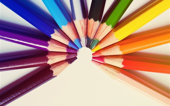 Wallpaper Colorful pencils, semicircle