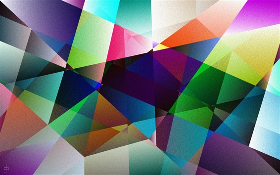 Wallpaper Colorful shape, abstract