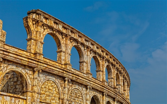 Wallpaper Colosseum ruins, Rome, Italy