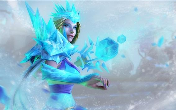 Fond d'écran Crystal Maiden, DOTA 2 jeux
