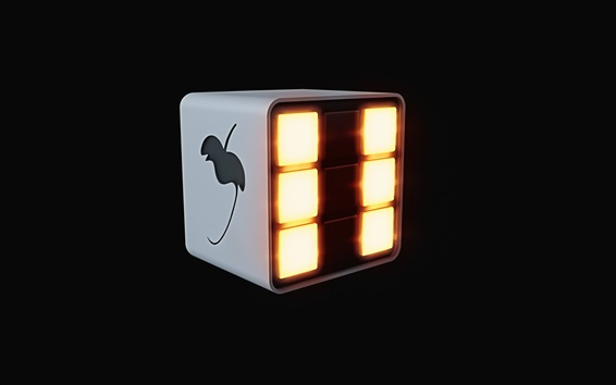 Wallpaper FL Studio logo, black background