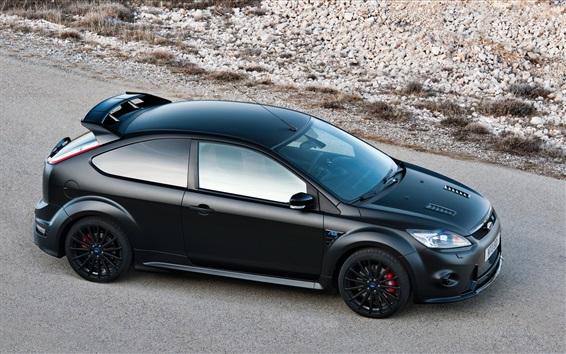 Wallpaper Ford Focus black car top view