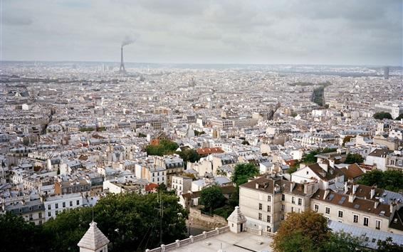 Wallpaper France, Paris, city views, roofs, houses