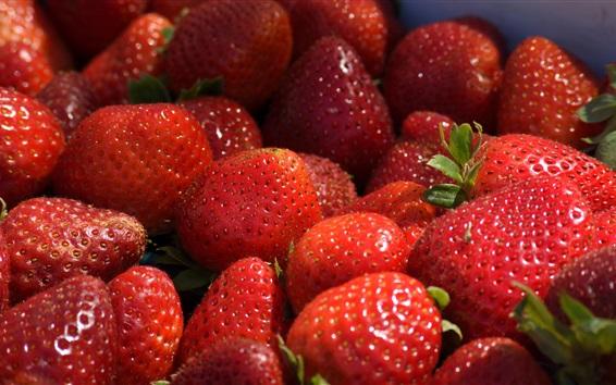 Wallpaper Fresh strawberries, ripe, sweet fruit