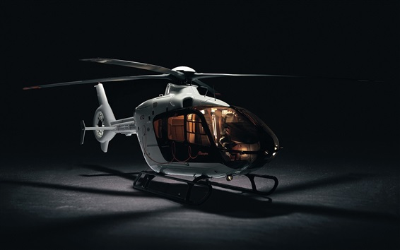 Wallpaper Little helicopter, black background