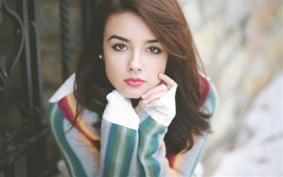 Wallpaper Lovely Asian girl portrait