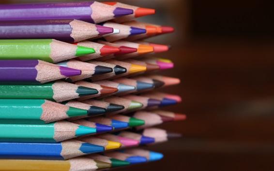 Обои Много цветных карандашей