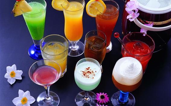 Wallpaper Many kinds cocktails