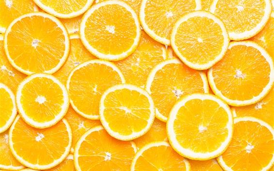 배경 화면 오렌지 슬라이스, 과일 매크로 촬영