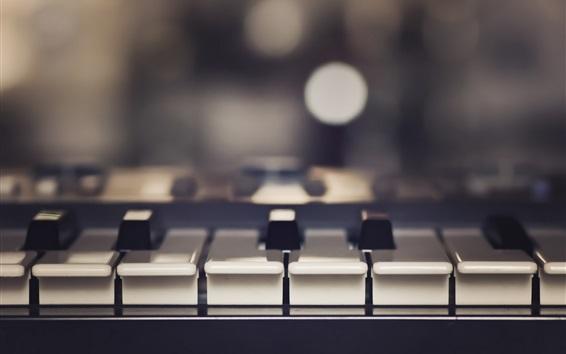 Wallpaper Piano music keys close-up