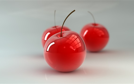 Обои Красное вишневое стекло, 3D дизайн