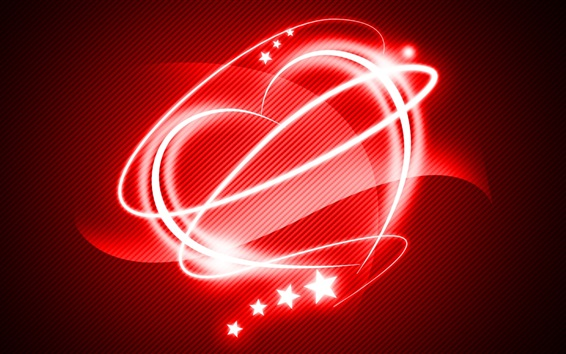 Wallpaper Red style love heart, light