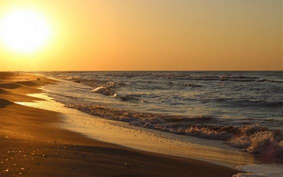 Обои Море, океан, вода, волны, пляж