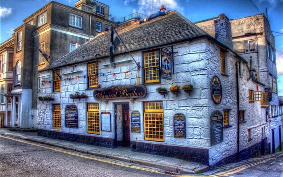 Fond d'écran Tavern, rue, Penzance, Angleterre