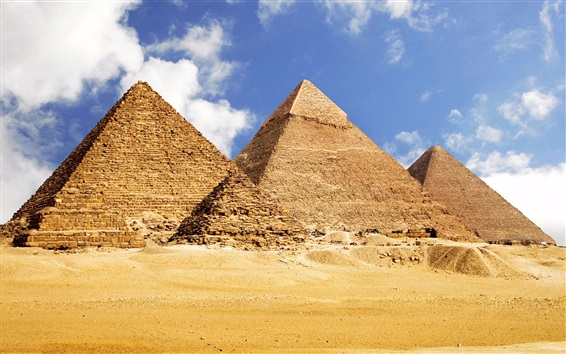 Wallpaper Travel to Egypt, pyramids, desert