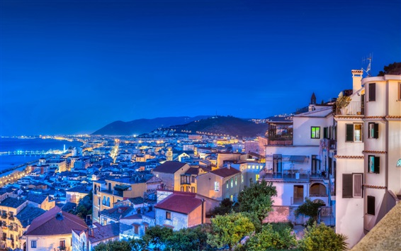 Wallpaper Travel to Italy, night, cityscapes, houses, lights