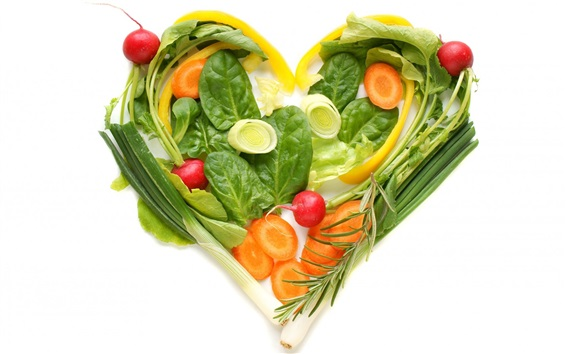 Обои Овощи сердце любовь, креатив