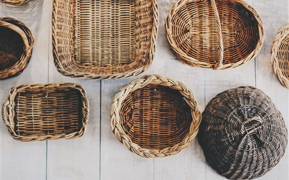 Wallpaper Wicker baskets, handicrafts