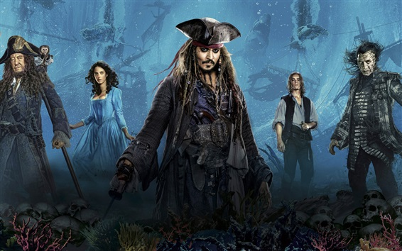 Wallpaper 2017 Disney movie, Pirates of the Caribbean: Dead Men Tell No Tales