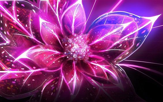 Обои Абстрактный цветок, розовые лепестки, свет