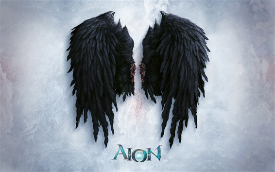 Wallpaper Aion, black wings