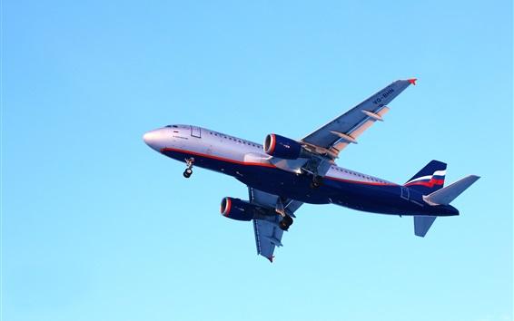 Wallpaper Airbus A320 airplane flight