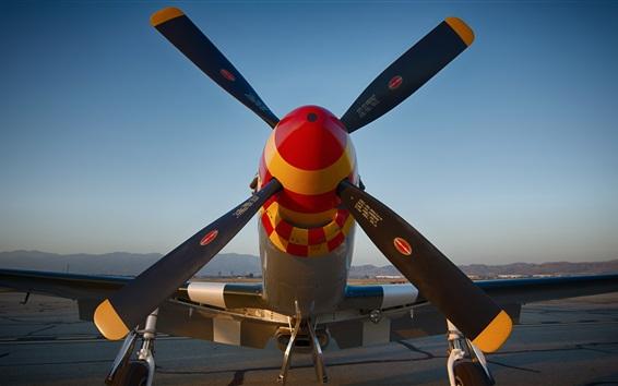 Wallpaper Airfield fighter propeller