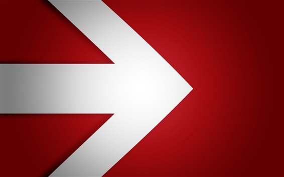 Wallpaper Arrow to right, red background