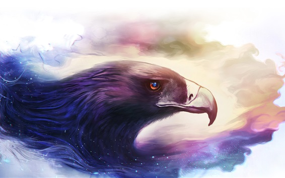 Wallpaper Art drawing, bird, eagle