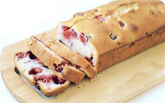 Wallpaper Breakfast food, cake, berries