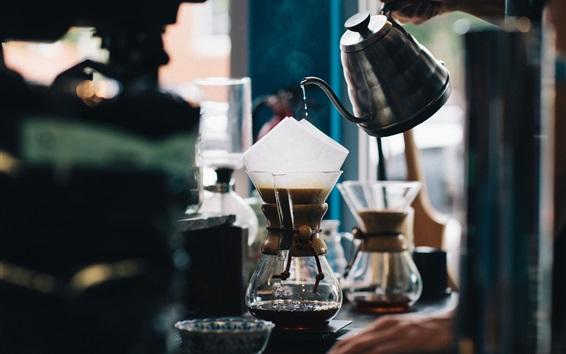 Fond d'écran Café, café, bouteilles