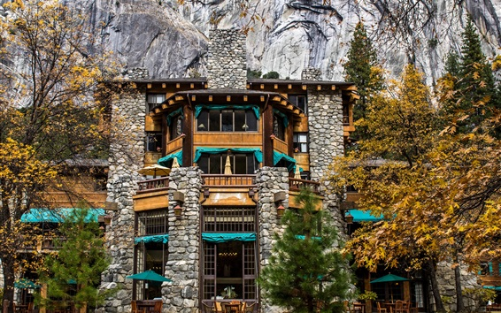 Wallpaper California, Ahwahnee Hotel, USA, Yosemite, rocks