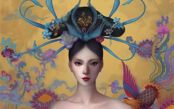 壁紙 中国の女の子、古代、ファンタジー