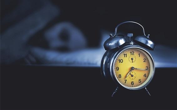 Wallpaper Clock, girl sleeping