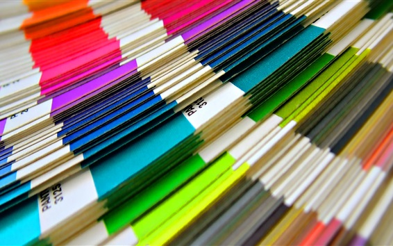 Wallpaper Colorful papers, stack