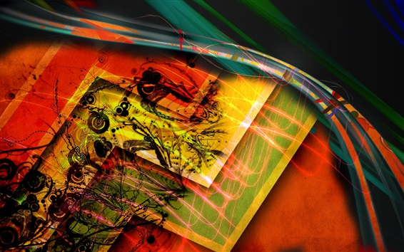 Wallpaper Colorful stripes, lines, abstract picture