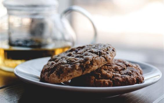 Wallpaper Cookies, food, plate