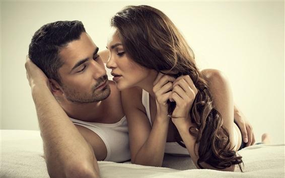 Обои Пара, любовь, поцелуй