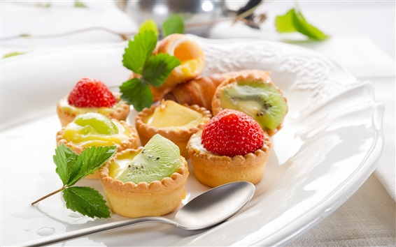 Wallpaper Dessert, cakes, fruit