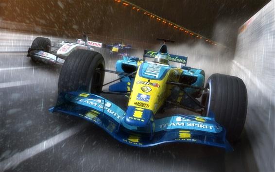 Fondos de pantalla F1 coches de carreras, la velocidad, la lluvia