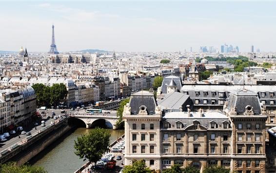 Обои Франция, река, мост, здания, город