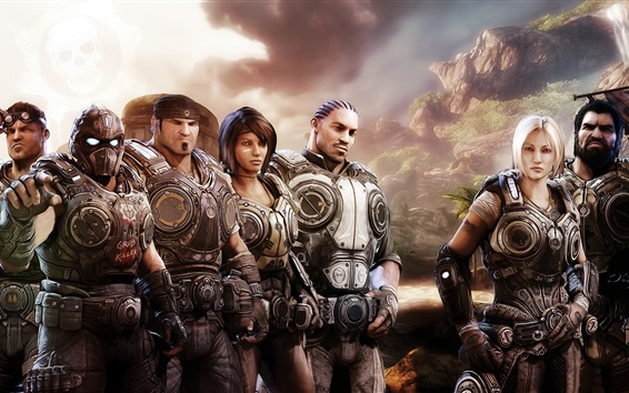 Wallpaper Gears of War, game characters