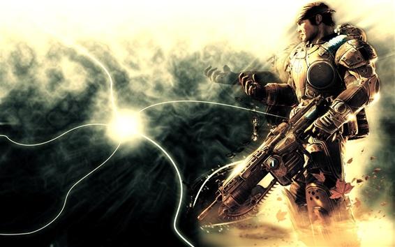 Fond d'écran Gears of War, soldat, pistolet