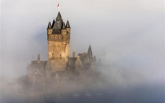 壁纸 德国的科赫姆城堡,城堡,雾