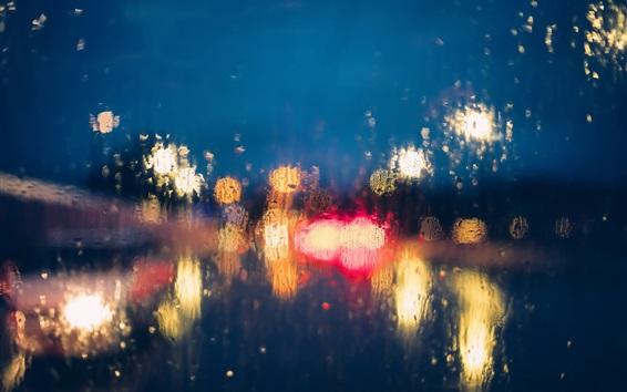 Wallpaper Glass, glare, lights, blurry