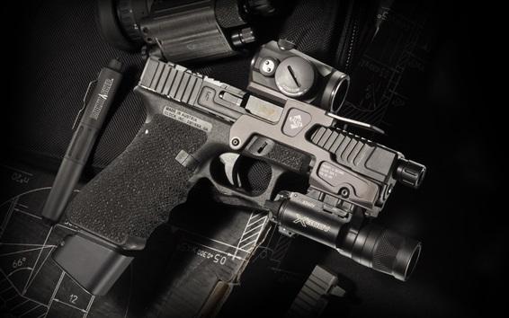 Wallpaper Glock 17 self-loading gun, weapon