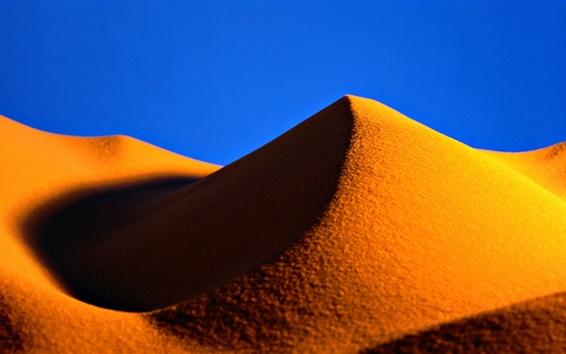Fond d'écran Sables d'or, désert, colline