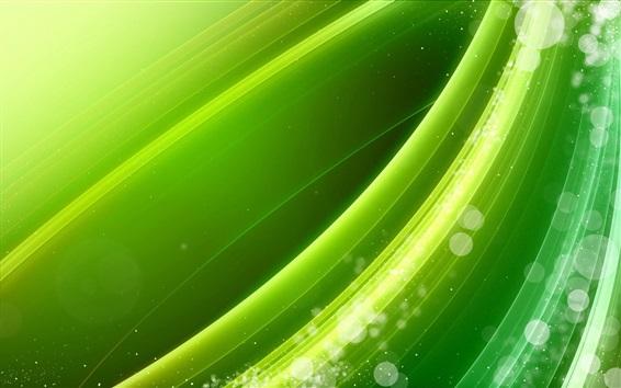 Обои Зеленая линия волнистая, абстрактная картина