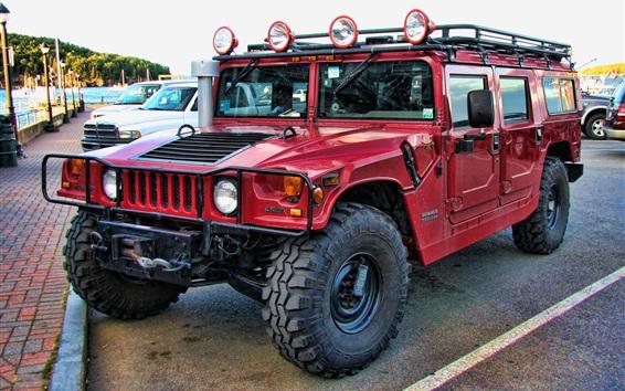 Fondos de pantalla Hummer H1 Alpha coche rojo